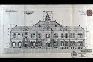 r. 1908 - stavební plán budovy radnice.jpg