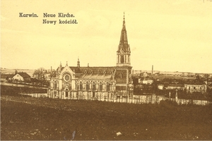 r. 1916 - pohlednice s kostelem sv. Jindřicha.jpg