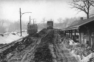 50. léta 20. stol. - tramvajová trať u Jindřišky.jpg