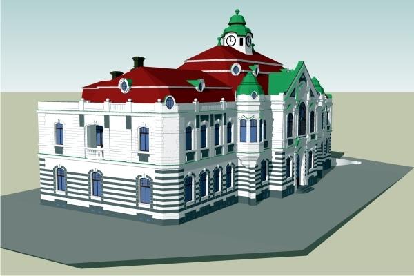 r. 2010 - společný projekt SOAK a OPF SLU v Opavě - 3D model budovy radnice (Bc. Marek Michnik)