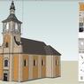 r. 2010 - společný projekt SOAK a OPF SLU v Opavě - 3D model budovy kostela (Ing. Dalibor Hula).jpg