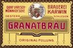 před 1918 - Etiketa na pivní láhve karvinského pivovaru.jpg